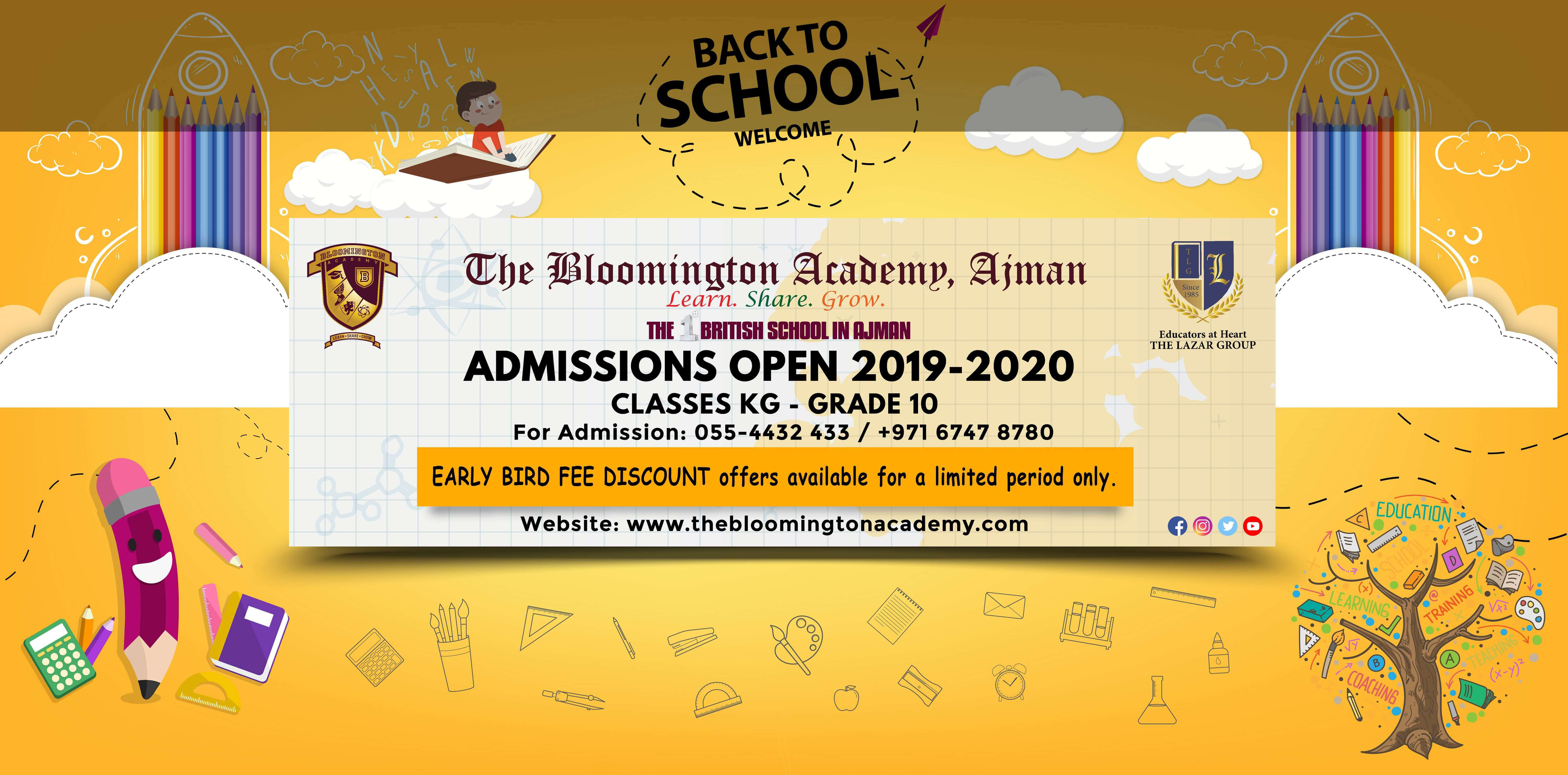 Bloomington Academy Admission Open Banner