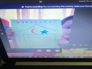 Making Ramadan Mat Activity by Students of The Bloomington Academy through E Learning